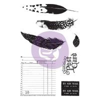 Midnight Gard Stamps Cling Stempel und Schablone/Stencil