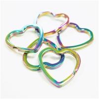 Schlüsselring Herz Regenbogen