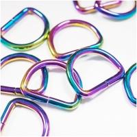 D-Ring für 25mm Band - Regenbogen
