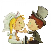Safuri Bügelbild Brautpaar