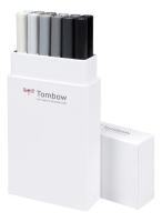 Tombow ABT Dual Brush Pen 12er Set Grautöne