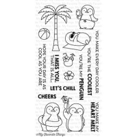 My favorite things Clear Stamp - Penguins in Paradise