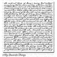 My favorite things Cling Stamp - Romantic Script Background