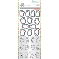 Mama Elephant Stamp and Die Set Mini Bunny Agenda