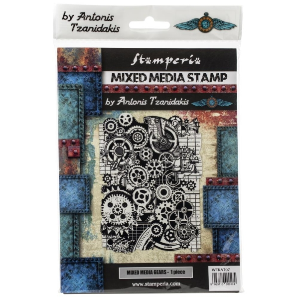 Stamperia Cling Stamp - Mixed Media Gears