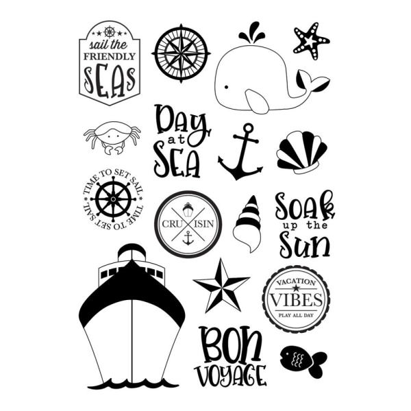 Simple Stories Clear Stamp Set Sail