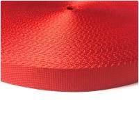 Nylon Gurtband für Hundeleinen, 2.5 cm breit, rot