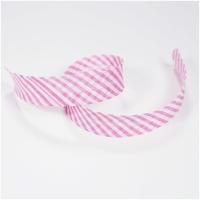 Schrägband gestreift weiss-rosa