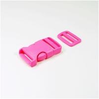 Steckverschluss mit Versteller für 25mm Band - pink