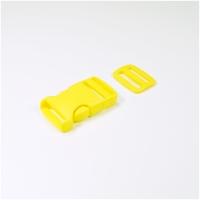 Steckverschluss mit Versteller für 25mm Band - gelb