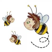 Safuri Bügelbild Set Bienen