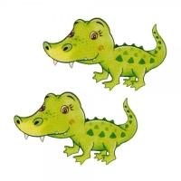 Safuri Bügelbild mini Krokodil 2-er Set