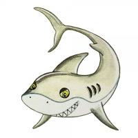 Safuri Bügelbild Hai