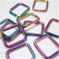Quadrat-Ring 20 oder 25mm Band - Regenbogen