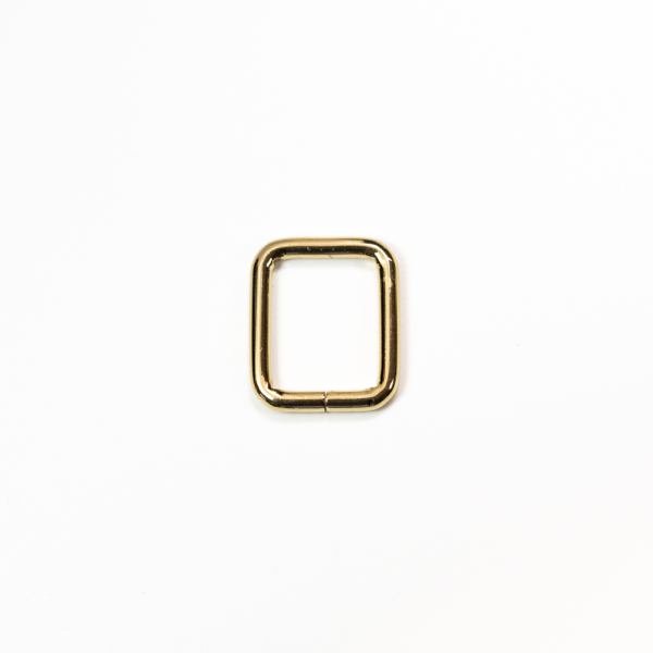 Quadrat-Ring Gold 20x25mm