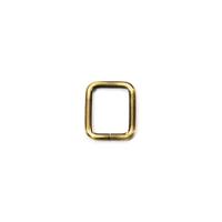 Quadrat-Ring 20 oder 25mm Band - gebürstetes Gold