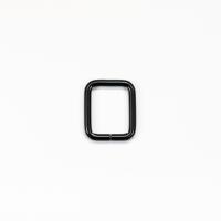 Quadrat-Ring 20 oder 25mm Band - Schwarz matt
