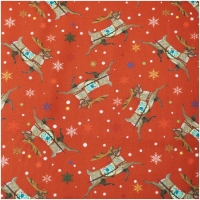 Baumwolle A Quilters Christmas Reindeer Red