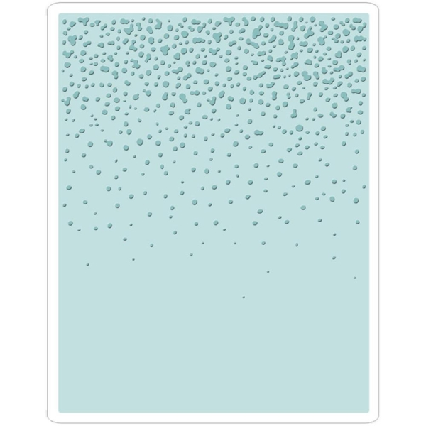 Sizzix Prägeschablone - Snowfall/Speckles By Tim Holtz