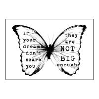 Finnabair Holzstempel Butterfly #1