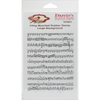 Darcies Cling Stamp - Background Music Notes