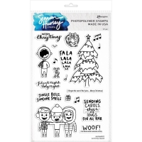 Simon Hurley Clear Stamp Set Caroling Squad