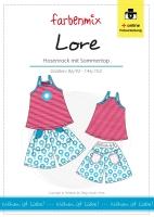 LORE Hosenrock und Top Farbenmix Schnittmuster