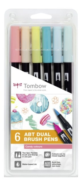 Tombow ABT Dual Brush Pen Set - Candy Colours