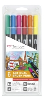 Tombow ABT Dual Brush Pen Set - Bright Colours