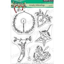 Penny Black Clear Stamp Set Trendy Trimmings