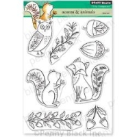 Penny Black Clear Stamp Set Acorn & Animals