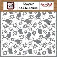 Echo Park Schablone - Animal Tracks 15x15cm