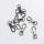Karabiner für 10mm Band - Silber