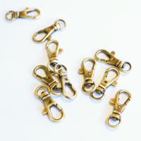 Karabiner für 10mm Band - gebürstetes Gold