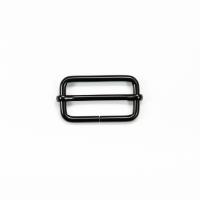 Versteller doppelt für 40mm Band - Schwarz matt