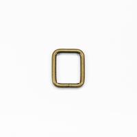 Quadrat-Ring 20 oder 25mm Band - Altmessing