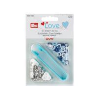 Prym Love 21 Stk. Jersey Druckknöpfe, 8mm, blau