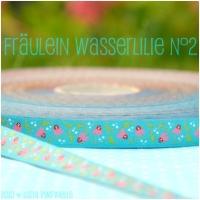 Farbenmix Webband Fräulein Wasserlilie N°2