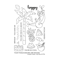 Uniquely Creative Clear Stamp Set Lazy Days