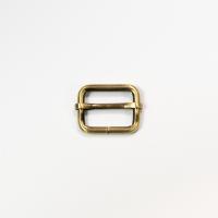 Versteller doppelt für 25mm Band Gold gebürstet