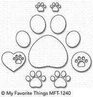 My favorite things die Stanze - Paw Prints Die-namics