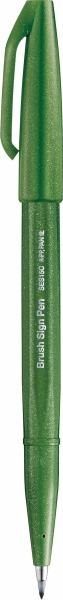 Pentel Brush Sign Pen Pinselstift olive