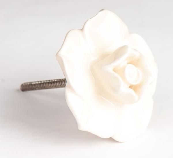 Türknauf Rose weiss