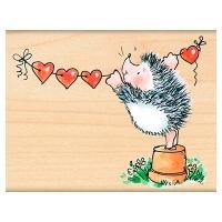 Penny Black Holzstempel Banner of Love - Igel mit...