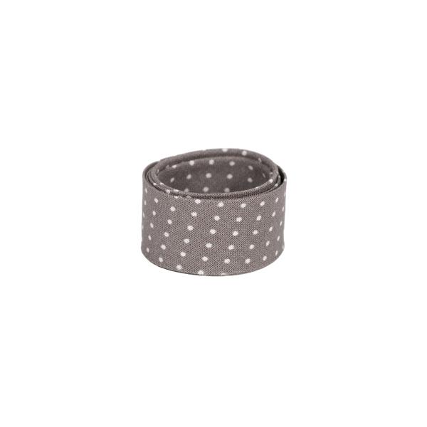 Schrägband Capri mini Punkte auf taupe