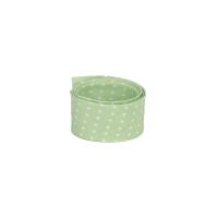 Schrägband Capri mini Punkte auf lime