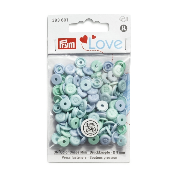 Prym Love Color Snaps Mini in Annähoptik T3 hellblau-mint