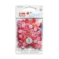 Prym Love Color Snaps Mini in Annähoptik T3 rosa-pink