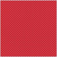 Beschichtete Baumwollpopeline Minipunkte Rot