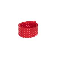 Schrägband Capri mini Punkte auf rot